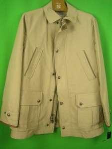 POLO RALPH LAUREN Beige Cotton NEW Zip Front Sport Jacket S