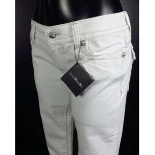 ME JEANS Boot Cut WHITE Victorian Gold Check Pattern Insert