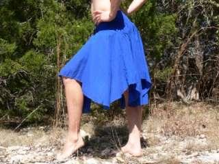 GYPSY BOHO CHIC Skirt Renaissance Wench Blue L   XL+