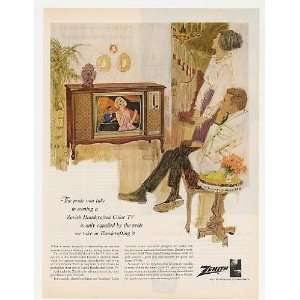 1965 Zenith Handcrafted Color TV Television Print Ad: Home & Kitchen