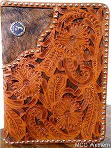 WESTERN KNEELING COWBOY HAND TOOLED LEATHER BIBLE COVER   ZIPPERED