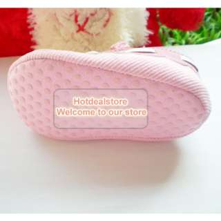 Pink Infant Baby Girls Bow Mary Jane Flats Shoes 6 12m
