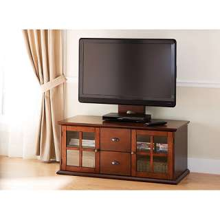 Veneer Modern Wood Flat Panel Tv Stand Credenza Media