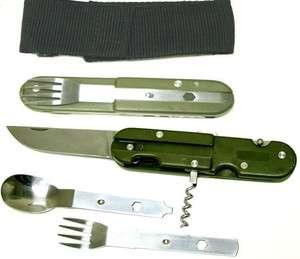 Wholesale Lot 48 Camping Multi Tool Silverware Knife Fork Set