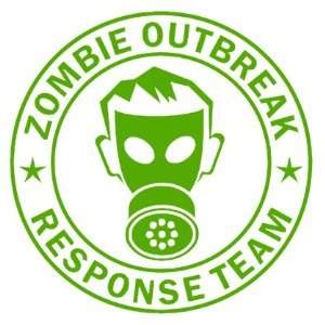 Zombie Outbreak Response Team IKON GAS MASK Design   5 LIME GREEN