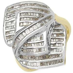 1.02 Carat 14K Gold Plated Genuine Diamond Accents