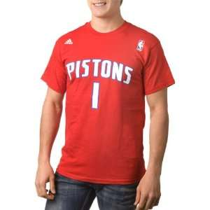 Allen Iverson adidas Name and Number Detroit Pistons T Shirt