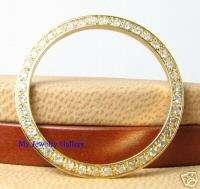 18K SOLID GOLD DIAMOND BEZEL FOR MIDSIZE UNISEX ROLEX