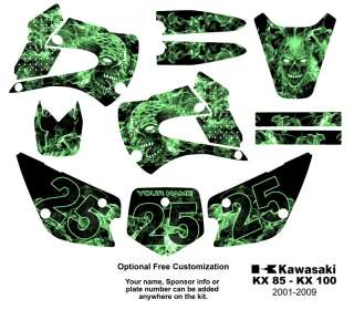 Kawasaki KX 85 /100 MX Bike Graphics Decal Kit 9500G