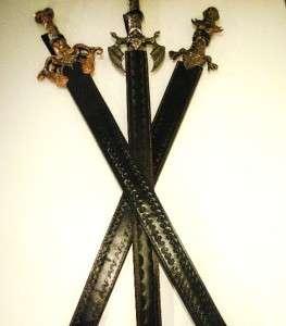 MEDIEVAL GOTHIC DRAGON SWORDS SCABBARD MASTER STEEL
