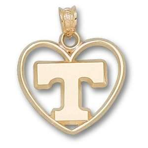 Tennessee Volunteers Logo Heart Pendant 14K Gold Jewelry