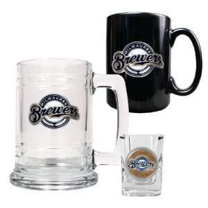 Milwaukee Brewers 15oz Tankard 15oz Ceramic Mug & 2oz Shot