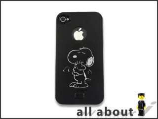 Phone 4S 4 Metal Case With Snoopy Cartoon Logo Aluminum Alumor Hard