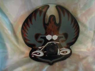 Orange County Choppers Motorcycle Glass Clock L@@K
