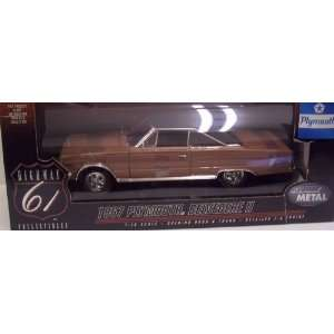 1967 Plymouth Belvedere II in Tan Diecast 118 Scale
