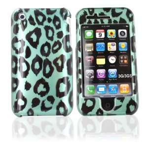 For iPhone 3G Hard Case Green Black Leopard & Screen Electronics