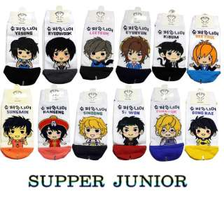 Super Junior Socks(12 kinds) one pair of socks or All Option ship 1.90