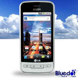 LG Optimus C (Cricket) Android Google Phone Silver USED Good Condition