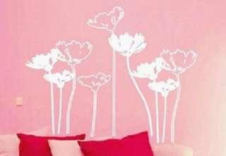 Lotus Flower Art Deco Mural WallPaper Sticker Decal 102