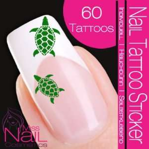 Nail Tattoo Sticker Turtle / Tortoise   green: Beauty