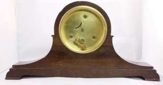 NEW HAVEN Wooden Mantel Clock Wood Case wind up RARE antique classic