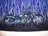 Dragonfly Biker Shirt Skull Motorcycle Flames Black XXL 2X XX Large