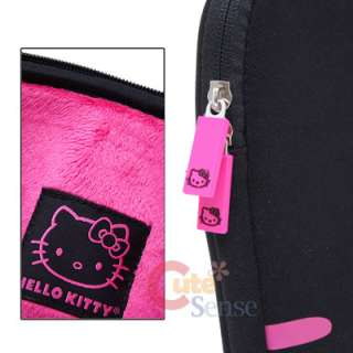 Sanrio Hello Kitty Formed Macbook Case 13 LapTop Bag Black Pink Face