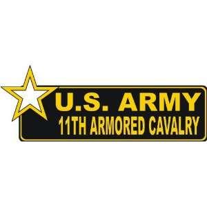 United States Army 11th Armored Cavalry Bumper Sticker