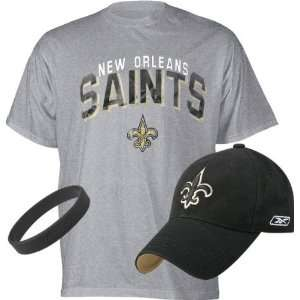 New Orleans Saints Youth Baseball Cap and T Shirt Combo