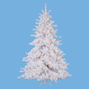 ft. Artificial Christmas Tree   Classic PVC Needles   Crystal White