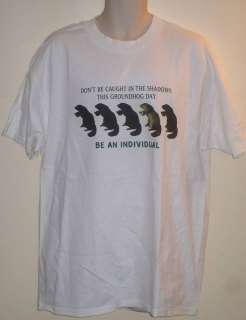 Mens Novelty Woodchuck Groundhog Day T Shirt Size XL~