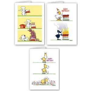 Funny Birthday Card Assortment Pack   9 cards and