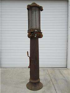 ROMAN COLUMN 10 GALLON VISIBLE GAS PUMP GASOLINE SAION GREEK |