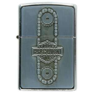 Harley Davidson   Chain Drive Refillable Zippo Lighter