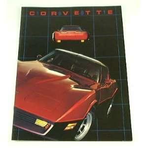 1981 81 Chevrolet Chevy CORVETTE BROCHURE