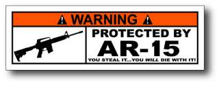 Protected By AR 15 Tackle Box Fishing Sticker Decal Ice
