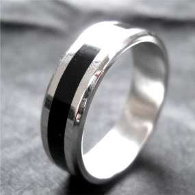hers unisex STERLING SILVER and STAINLESS STEEL Wedding Rings & Bands