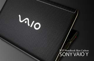 Sony VAIO Y Series Laptop Cover Skin   Carbon