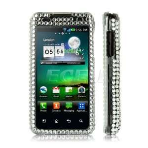 Ecell   CLEAR FLOWER CRYSTAL BLING CASE COVER FOR LG