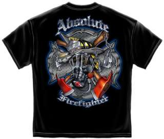 Absolute Firefighter Gas Mask Black T Shirt