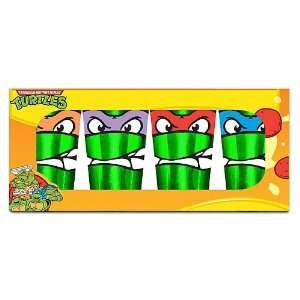 Teenage Mutant Ninja Turtles Faces 4 Pack Pint Glasses