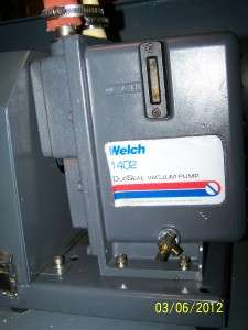 Welch 1402 DuoSeal Belt Drive Rotary Vane Mechanical Vacuum Pump