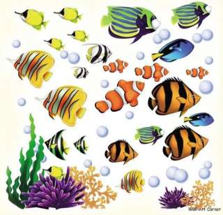 Under the Sea Tropical Fish Wall Art Sticker Decals