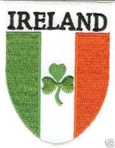 Ireland Flag Shamrock Patch/Badge/Crest Iron/Sew On