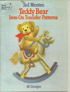 TEDDY BEAR IRON ON TRANSFERS~patterns~OOP BOOK
