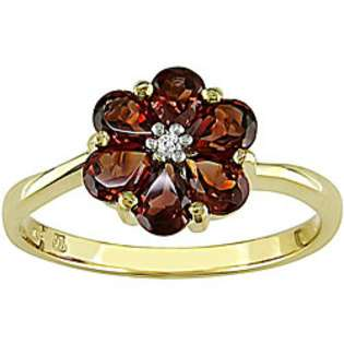 Garnet Fashion Ring. 10K Yellow Gold  Jewelry Gemstones Rings