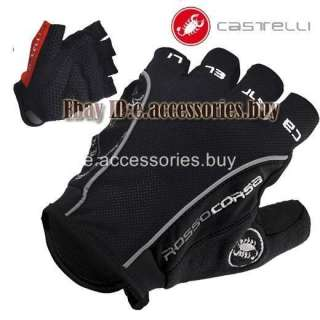 Corsa Bike Cycling Bicycle Fingerless Gloves Black S/M/L/XL