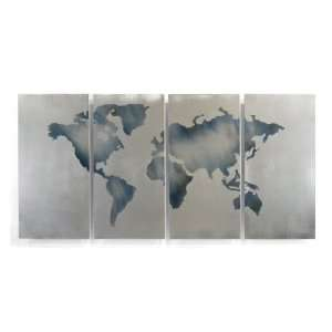 World Map Wall Art Abstract Modern Metal décor by Ash