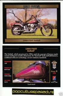 1988 HARLEY DAVIDSON FXST SOFTAIL MOTORCYCLE BIKE CARD