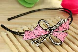 bow tie bowknot girl headwear hair headband swarovski crystal